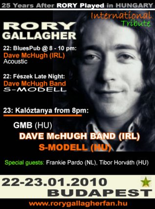 Rory Gallagher Tribute Budapest 2010